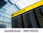 flight information  arrival ... | Shutterstock . vector #306740531