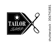 logo tailor shop and sewing... | Shutterstock .eps vector #306741881