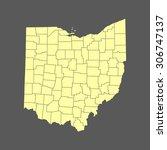 map of ohio   Shutterstock .eps vector #306747137