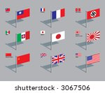 the world war two flags of...