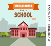 back to school vector. | Shutterstock .eps vector #306767021