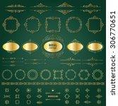 vintage golden frames  dividers ... | Shutterstock .eps vector #306770651