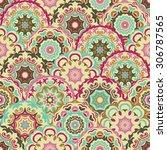 fancy  ornamental seamless... | Shutterstock .eps vector #306787565