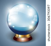 magic crystal ball isolated... | Shutterstock .eps vector #306793397