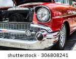classic chevrolet at a car show ... | Shutterstock . vector #306808241