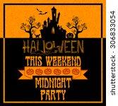 halloween background with... | Shutterstock .eps vector #306833054