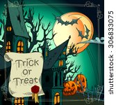 halloween background with...   Shutterstock .eps vector #306833075