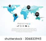 vector blue triangle world map... | Shutterstock .eps vector #306833945