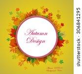 abstract composition  autumn...   Shutterstock .eps vector #306841295