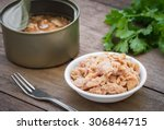 canned tuna fish in bowl    Shutterstock . vector #306844715