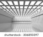 Abstract Empty Interior. Modern ...