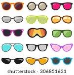 glasses set.vector | Shutterstock .eps vector #306851621