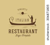 italian restaurant abstract... | Shutterstock .eps vector #306871805