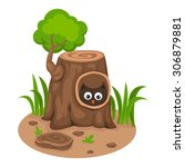 illustration of isolated tree... | Shutterstock .eps vector #306879881