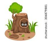 illustration of isolated tree... | Shutterstock .eps vector #306879881