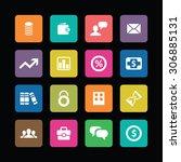 finance icons universal set for ... | Shutterstock . vector #306885131