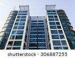 glass reflective office... | Shutterstock . vector #306887255