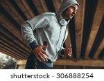 jogger running in city...   Shutterstock . vector #306888254