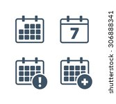 vector calendar icons. event... | Shutterstock .eps vector #306888341