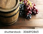 Old Wine Barrel Grape Wooden - Fine Art prints