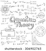 quantum theory law and physics... | Shutterstock .eps vector #306902765