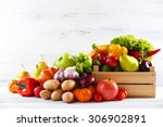 heap of fresh fruits and... | Shutterstock . vector #306902891
