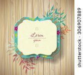 vector label with space for... | Shutterstock .eps vector #306907889