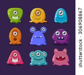 cute cartoon jelly monsters ...
