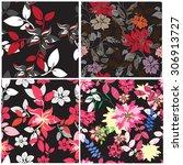 floral seamless pattern  ...   Shutterstock .eps vector #306913727