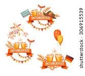 banners for oktoberfest... | Shutterstock .eps vector #306915539