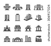 building icon set  vector eps10. | Shutterstock .eps vector #306917324