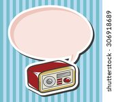 style radio  cartoon speech icon | Shutterstock . vector #306918689
