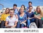 group portrait  of happy ... | Shutterstock . vector #306918911