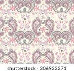 vector seamless paisley pattern | Shutterstock .eps vector #306922271