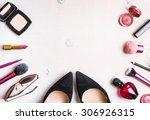 Feminine Cosmetic Background....