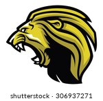 angry lion head mascot | Shutterstock .eps vector #306937271