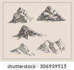 mountain scenery sketch hand... | Shutterstock .eps vector #306939515