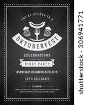oktoberfest beer festival... | Shutterstock .eps vector #306941771