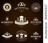 beer festival oktoberfest... | Shutterstock .eps vector #306942317