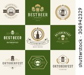 retro style labels  badges and... | Shutterstock .eps vector #306942329