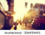 people in bokeh  street of... | Shutterstock . vector #306954491