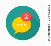 message notice icon  vector... | Shutterstock .eps vector #306963071