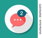 message notice icon  vector... | Shutterstock .eps vector #306963395