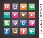 dj icons universal set for web... | Shutterstock . vector #306966311