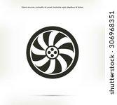 wheel vector icon   Shutterstock .eps vector #306968351
