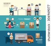 business design e shopping... | Shutterstock .eps vector #306969077