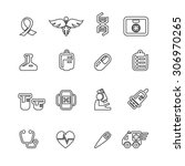 medical icons vector | Shutterstock .eps vector #306970265