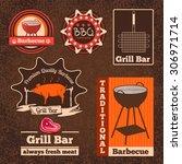 set of butchery logos  badges... | Shutterstock .eps vector #306971714