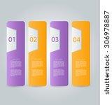 business infographics template... | Shutterstock .eps vector #306978887