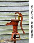 Rusted Old Water Pump With...
